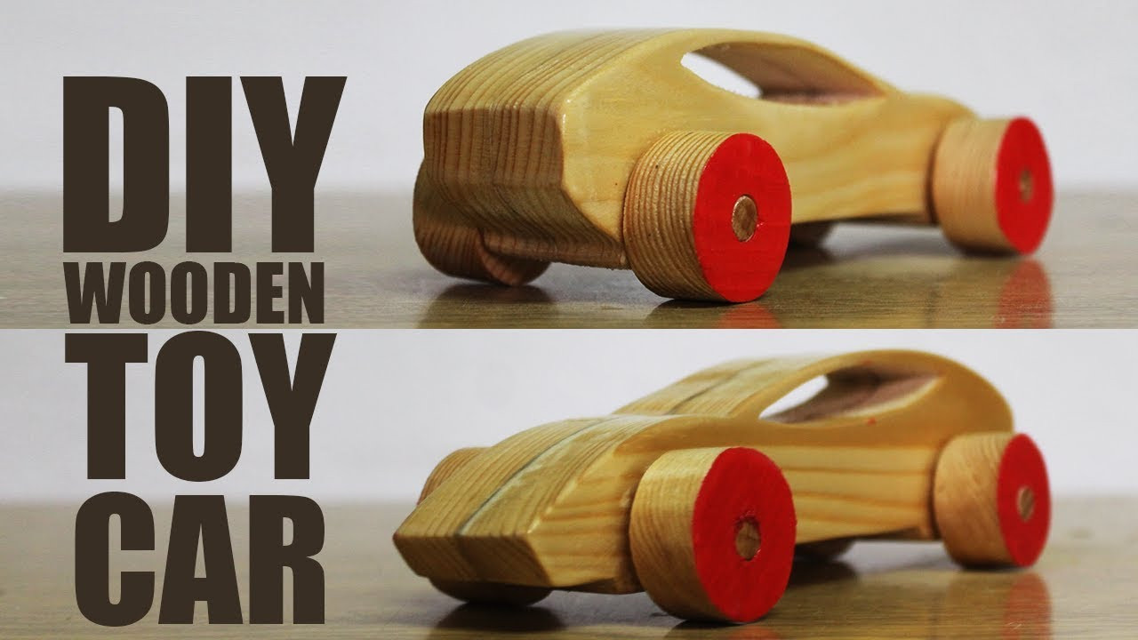 DIY Wood Toys  How to make a wooden toy car DIY Wooden Toys