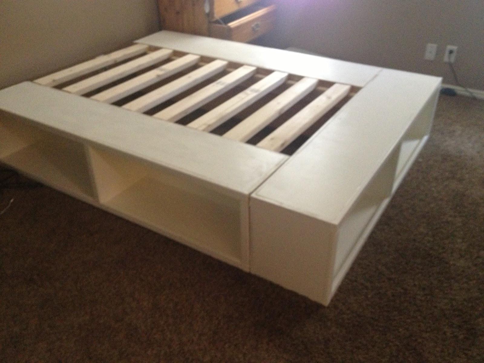 DIY Wooden Bed Frame With Storage  DIY Storage Bed