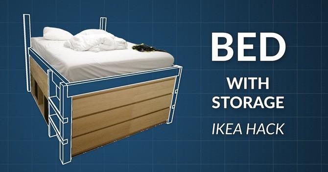 DIY Wooden Bed Frame With Storage  DIY Wooden Storage Bed Frame by Henri Rantanen