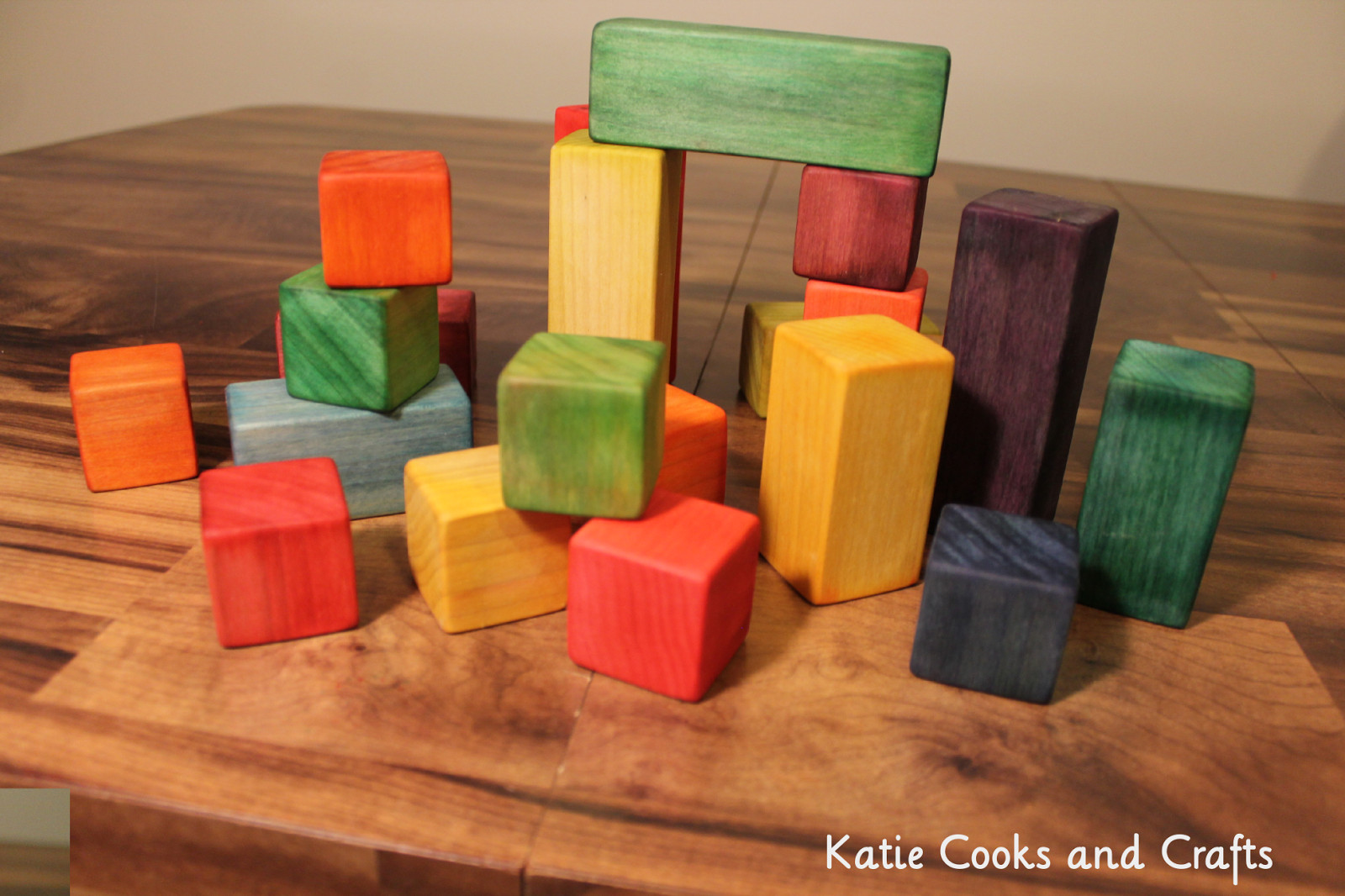 DIY Wooden Blocks  Katie Cooks and Crafts DIY Wooden Blocks Easy Wood Toy