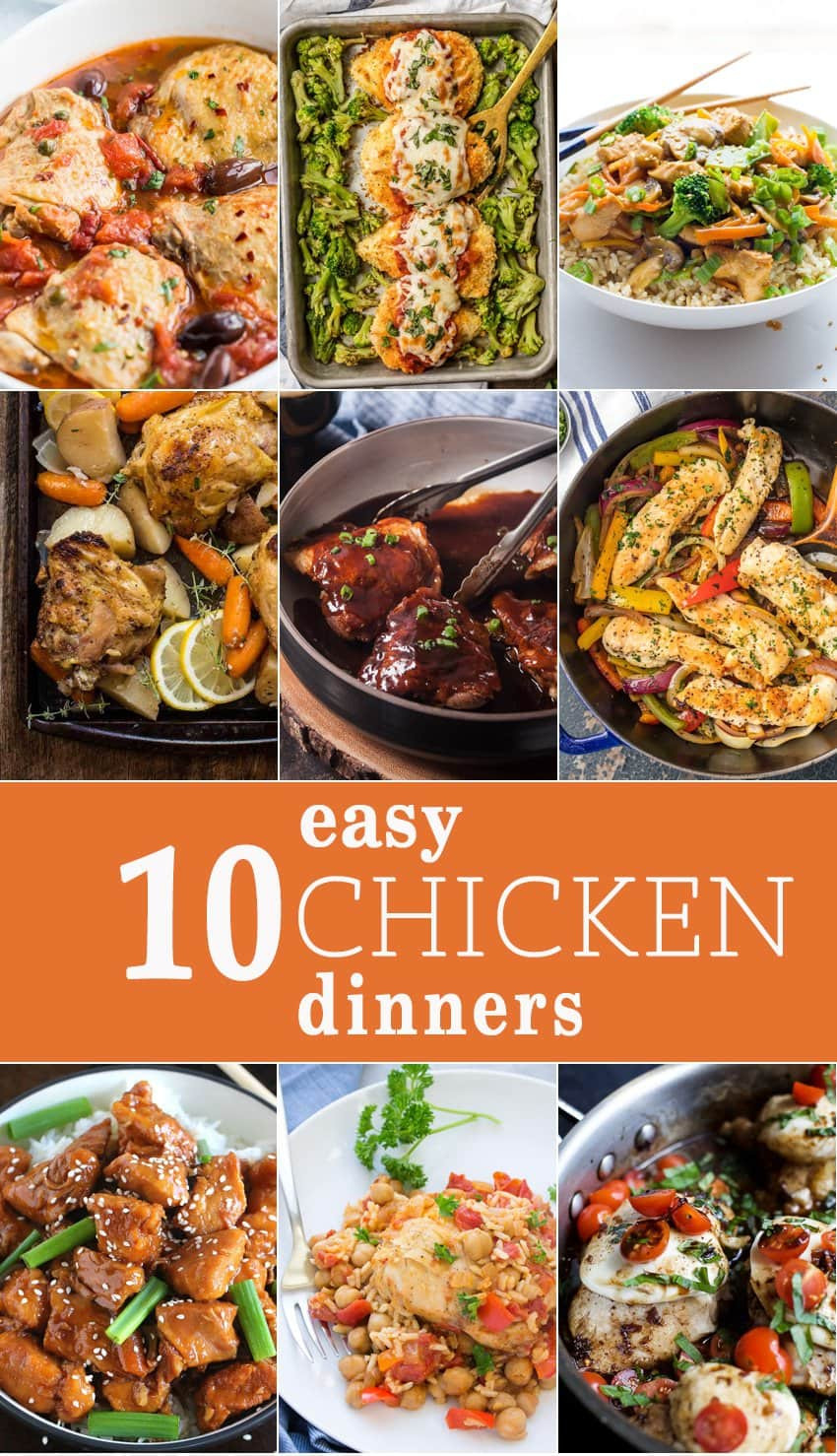 Easy Chicken Dinners  10 Easy Chicken Dinners The Cookie Rookie