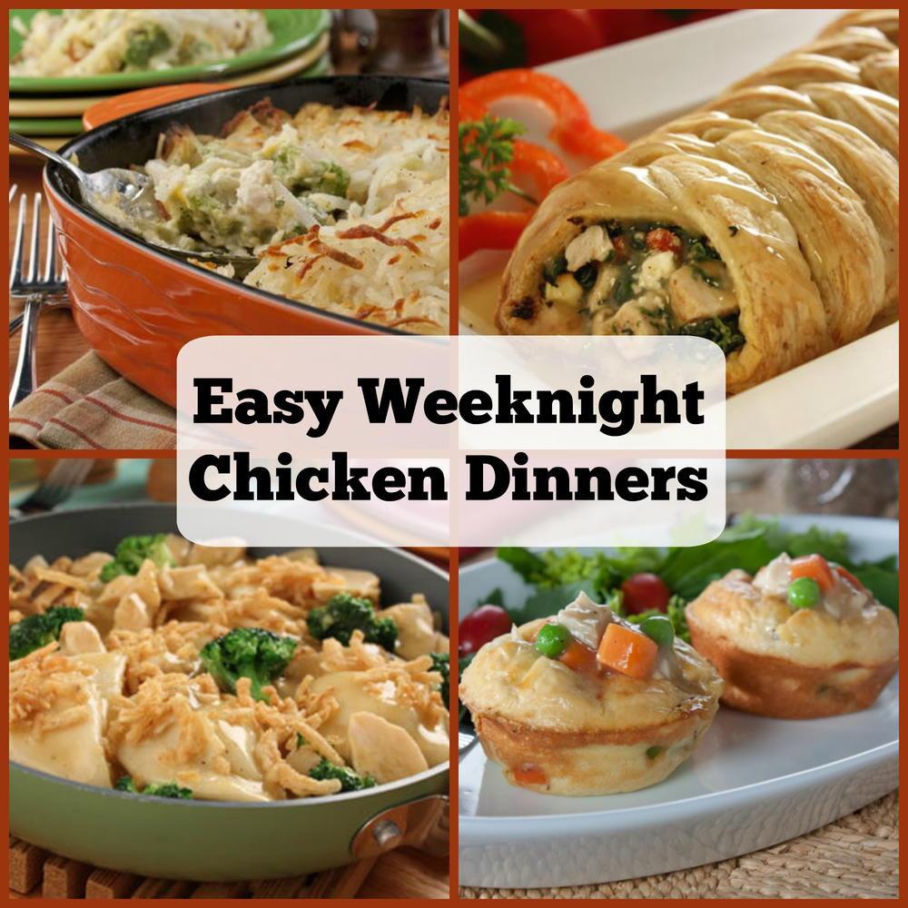 Easy Chicken Dinners  6 Easy Weeknight Chicken Dinners