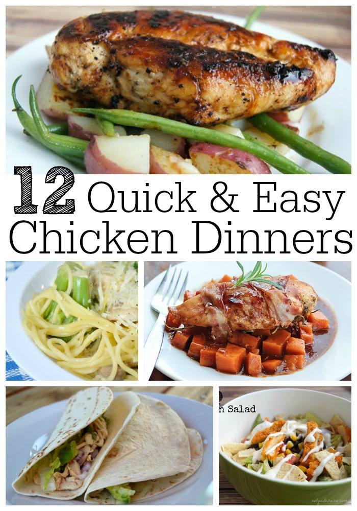 Easy Chicken Dinners  12 Quick & Easy Chicken Dinner Recipes Not Quite Susie
