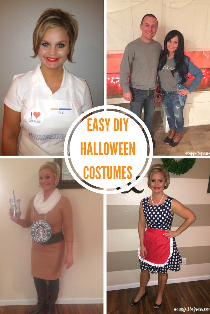 Easy DIY Adult Costumes  DIY Halloween Costume Ideas A Cup Full of Sass