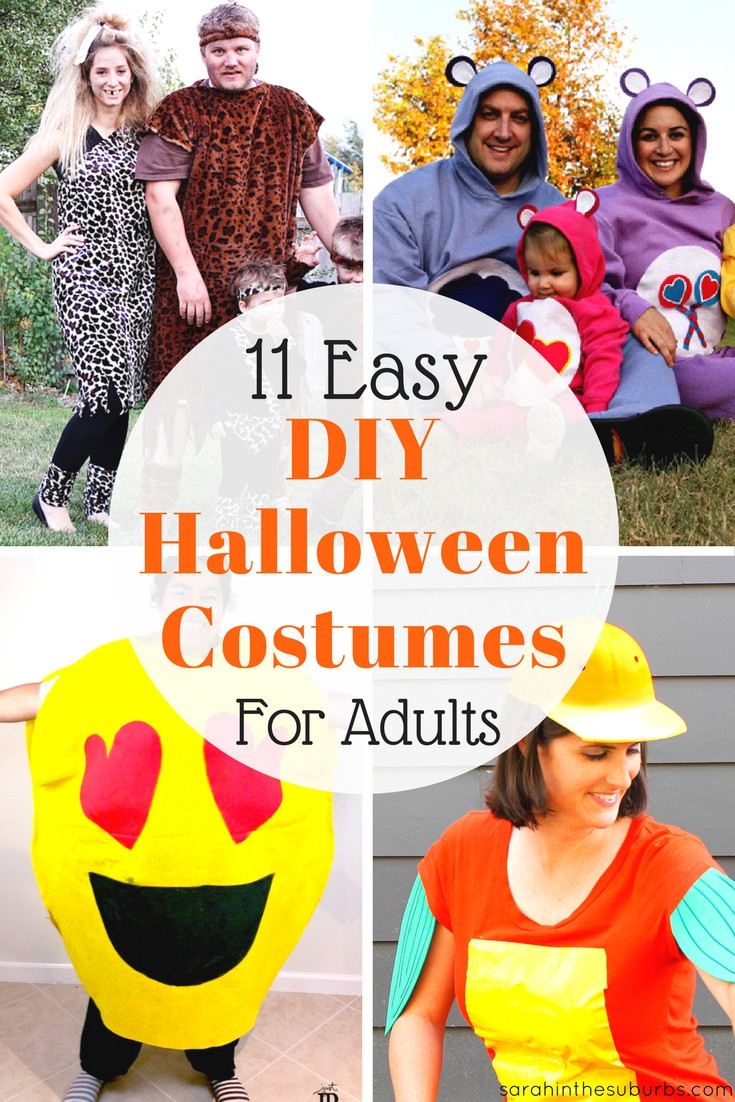 Easy DIY Adult Costumes  Sarah in the Suburbs