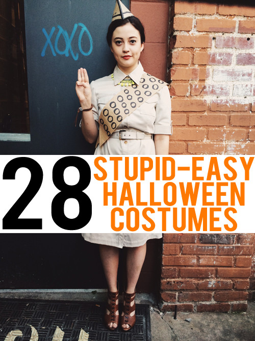 Easy DIY Adult Costumes  28 Stupid Easy Costume Ideas to Make with What You Already