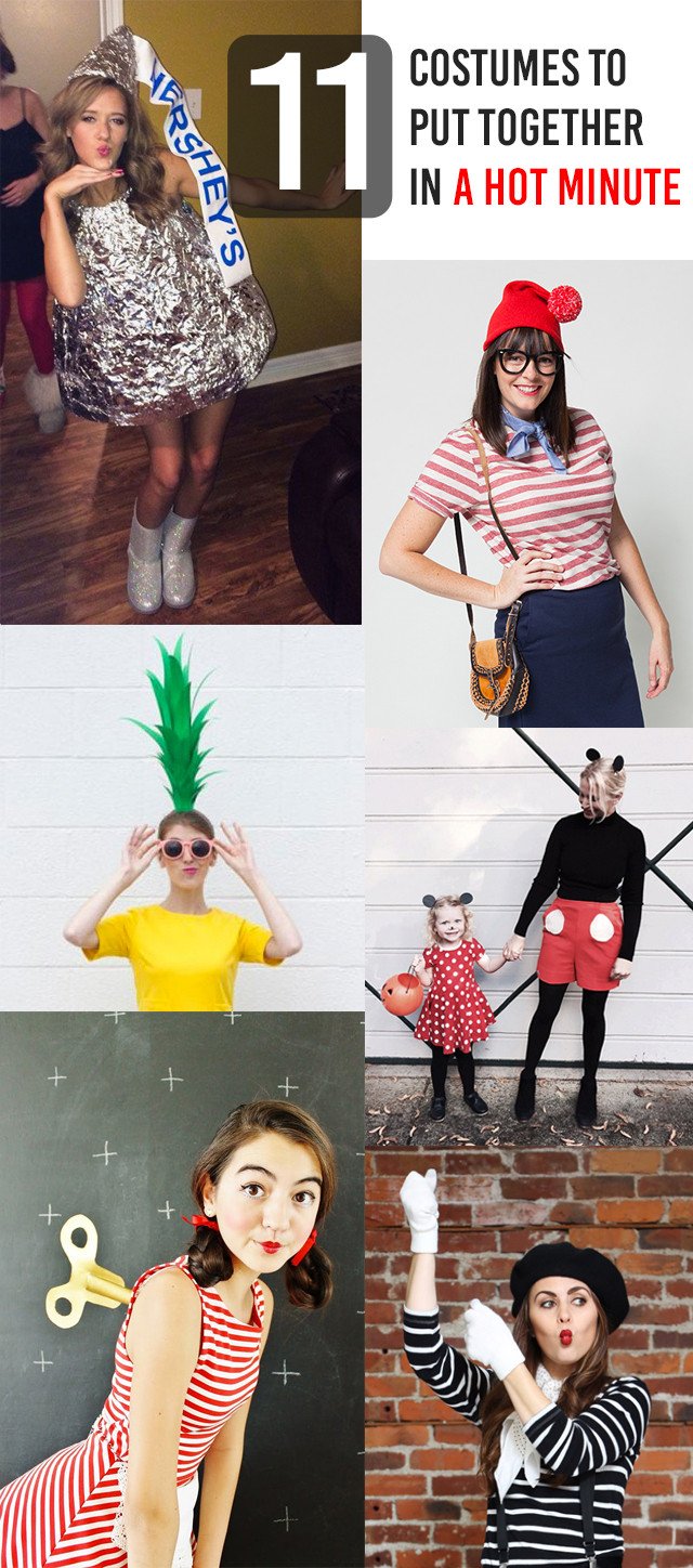 Easy DIY Adult Costumes  11 Brilliantly Simple DIY Halloween Costumes for Moms