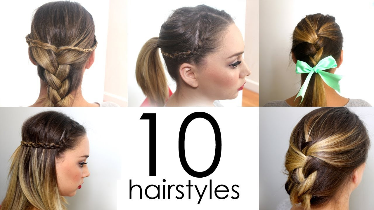 Easy Everyday Hairstyles  10 Quick & Easy Everyday Hairstyles in 5 minutes