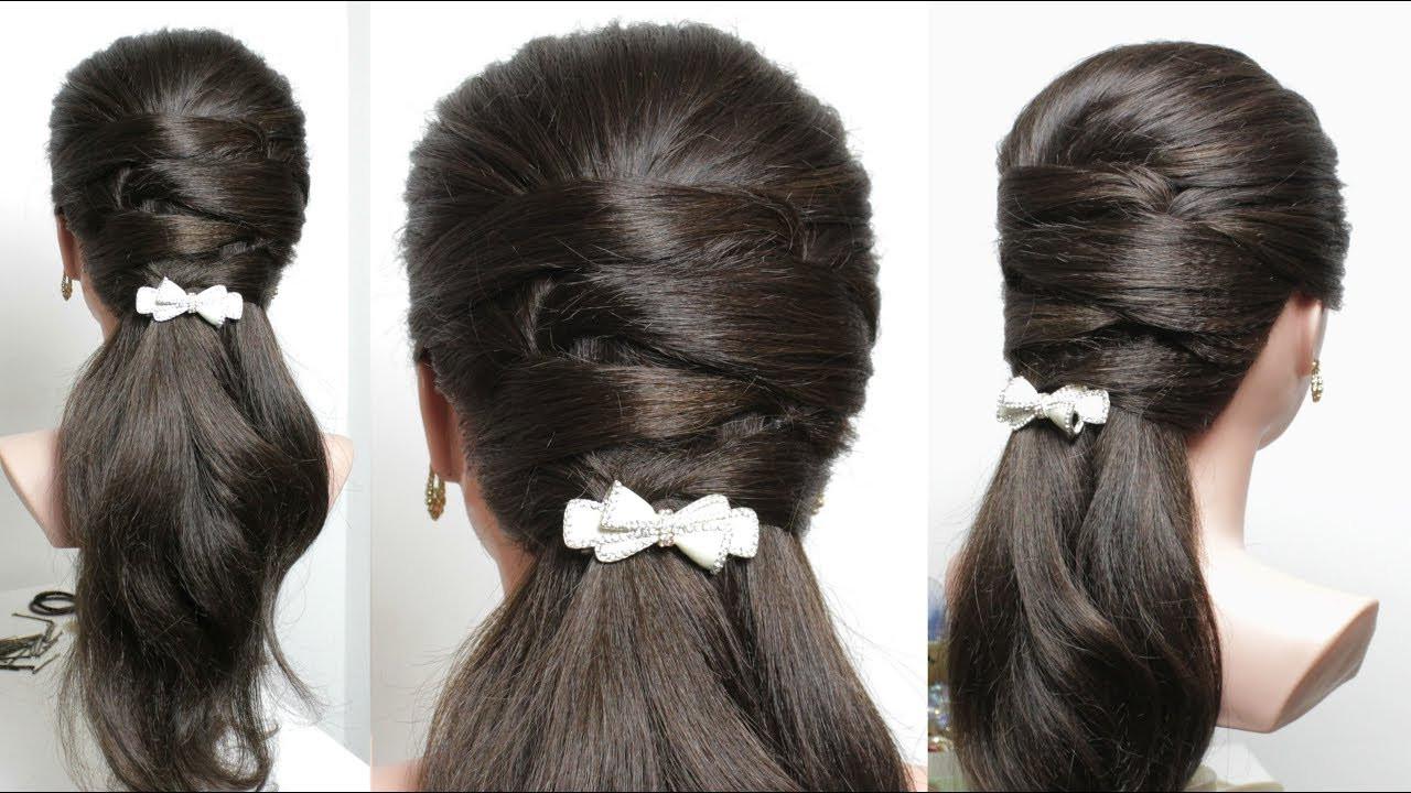 Easy Everyday Hairstyles  Easy everyday hairstyle for long medium hair
