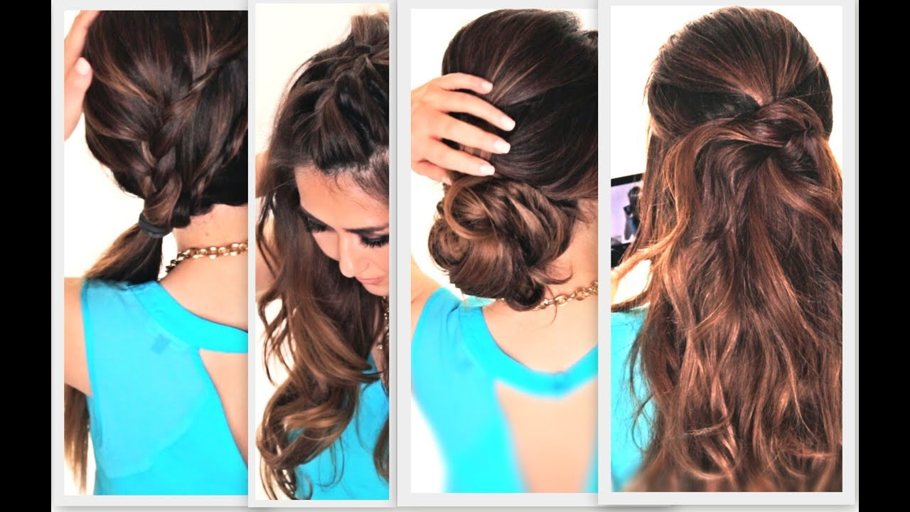 Easy Everyday Hairstyles  6 EASY LAZY HAIRSTYLES
