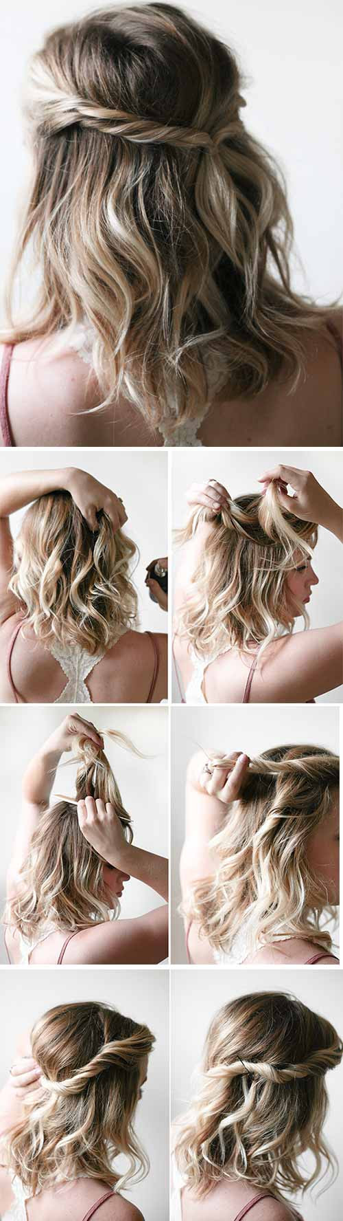 Easy Hairstyles For Short Hair To Do At Home Step By Step  20 Incredible DIY Short Hairstyles A Step By Step Guide