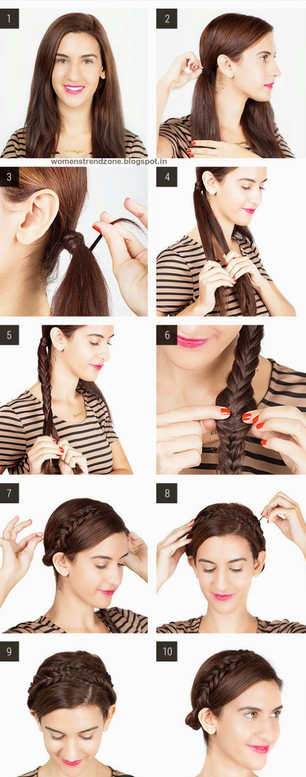 Easy Hairstyles For Short Hair To Do At Home Step By Step  Step By Step Easy Hairstyles Instruction For Long Medium