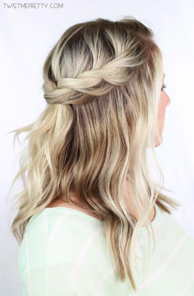 Easy Hairstyles For Short Hair To Do At Home Step By Step  41 DIY Cool Easy Hairstyles That Real People Can Actually