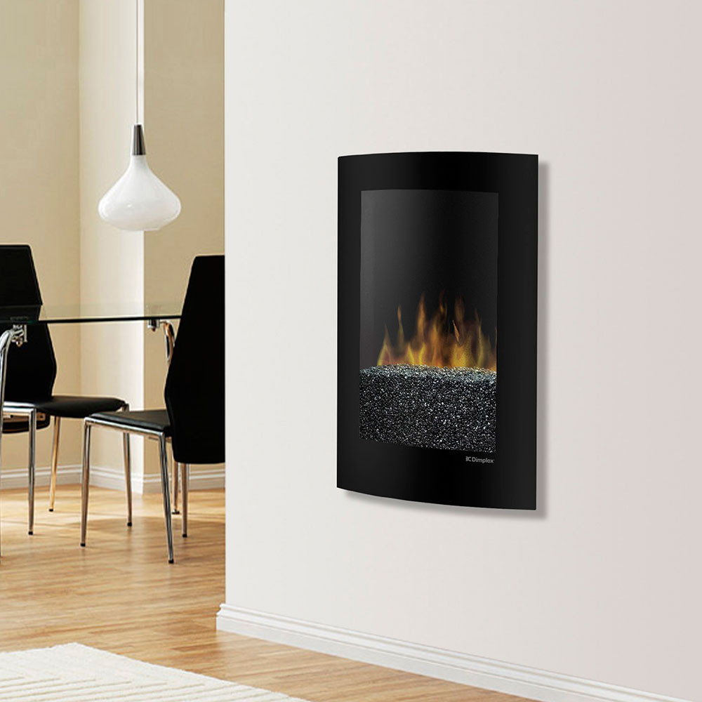 Electric Fireplace Modern Wall Mount  Dimplex Convex Black Wall Mount Electric Fireplace VCX1525
