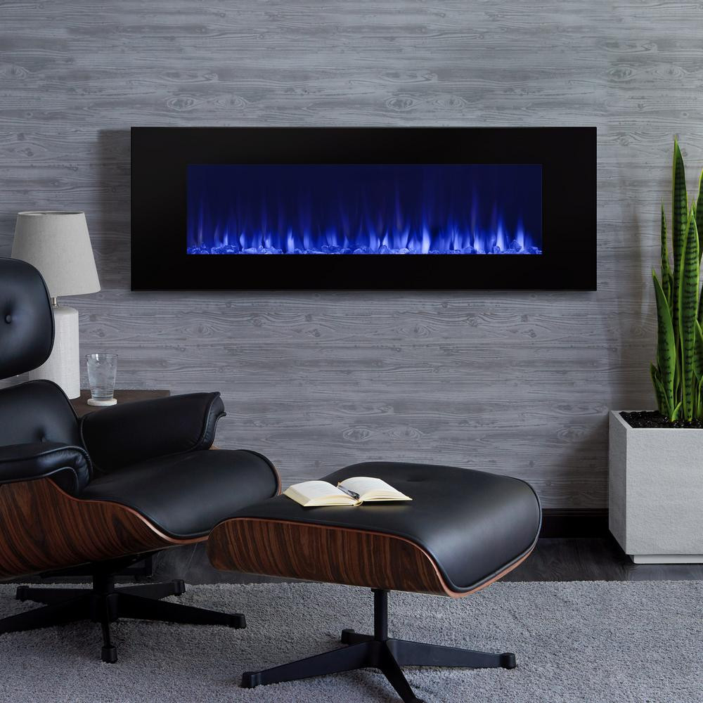 Electric Fireplace Modern Wall Mount  Real Flame DiNatale 50 in Wall Mount Electric Fireplace