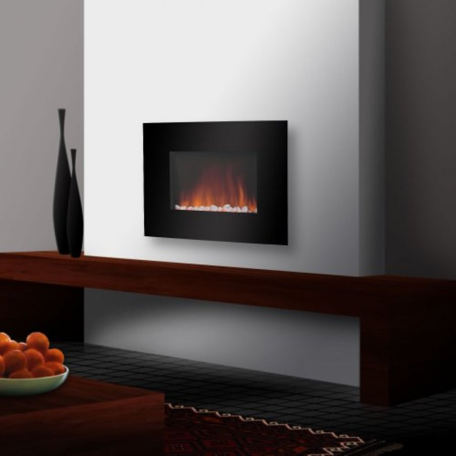 Electric Fireplace Modern Wall Mount  How To Install Electric Wall Mount Fireplace KVRiver