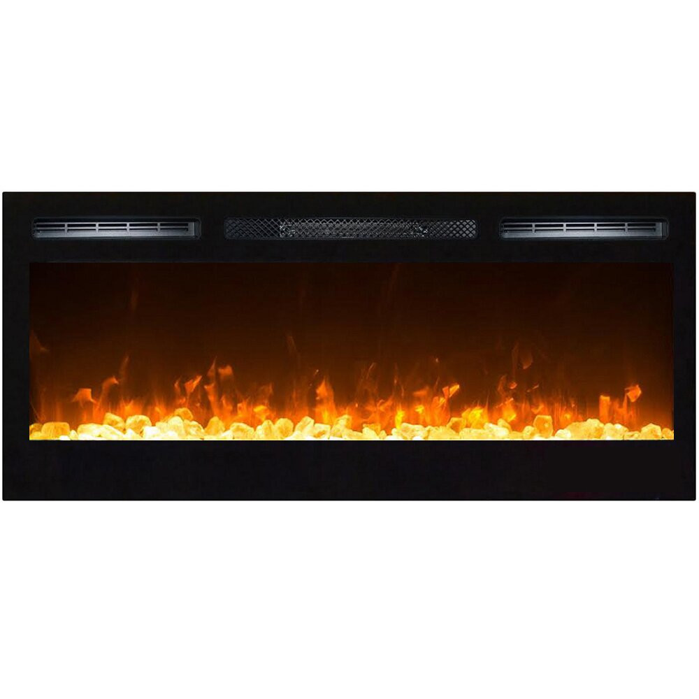 Electric Fireplace Modern Wall Mount  Orren Ellis Jemaine Contemporary Wall Mount Electric