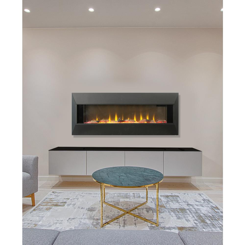 Electric Fireplace Modern Wall Mount  Lifesmart Contemporary 42 in Wall Mount Electric Infrared