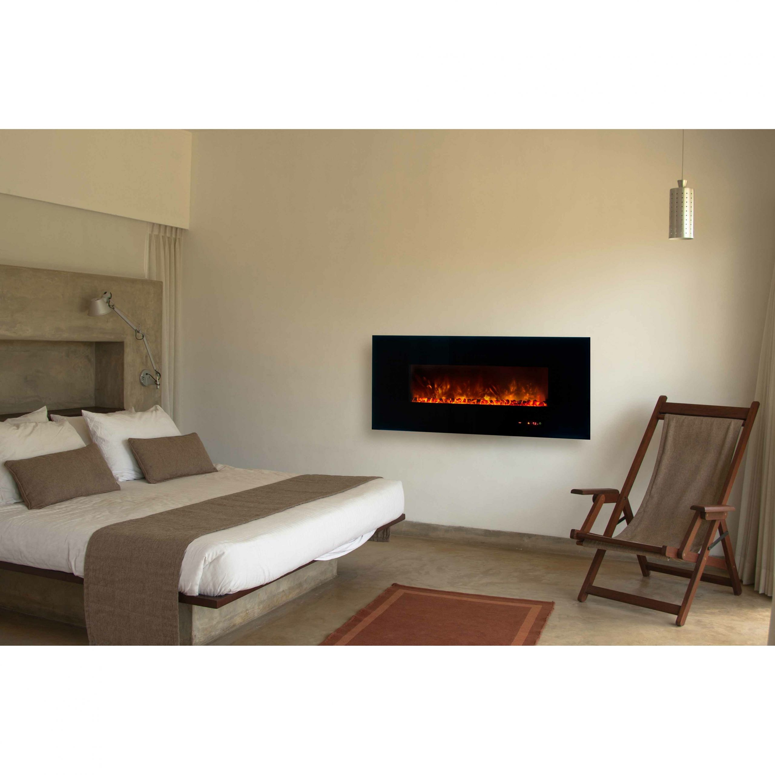 Electric Fireplace Modern Wall Mount  Modern Flames Dream Flame Linear Wall Mount Electric