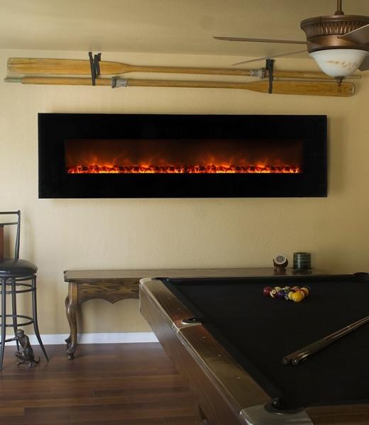 Electric Fireplace Modern Wall Mount  Modern Flames 95 Inch Wall Mount Linear Electric Fireplace