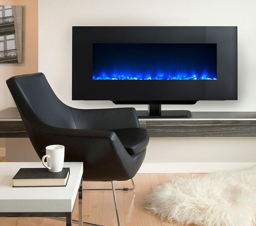 Electric Fireplace Modern Wall Mount  SimpliFire Modern Wall Mount Electric Fireplaces
