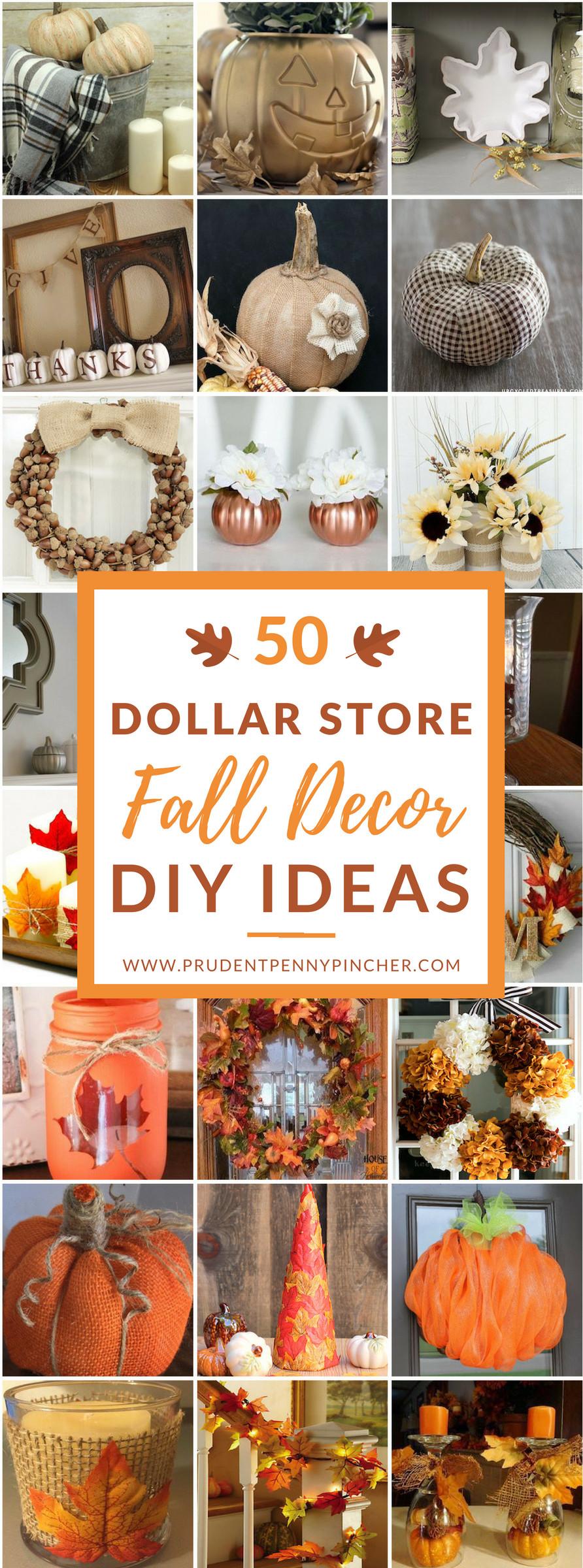 Fall Decorating Ideas DIY  50 Dollar Store Fall Decor DIY Ideas Prudent Penny Pincher
