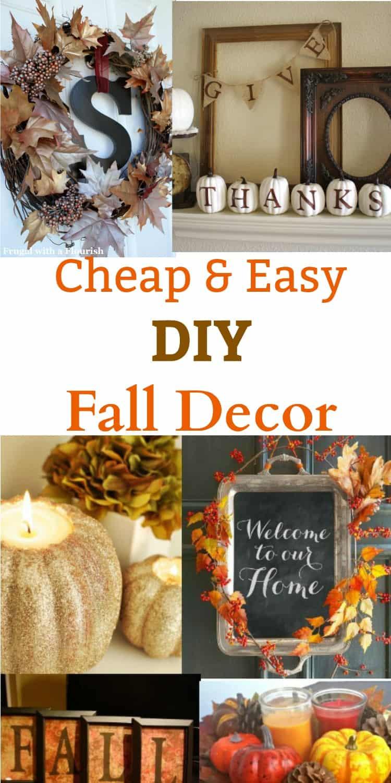 Fall Decorating Ideas DIY  DIY Fall Decor Ideas Cheap and Easy to Make