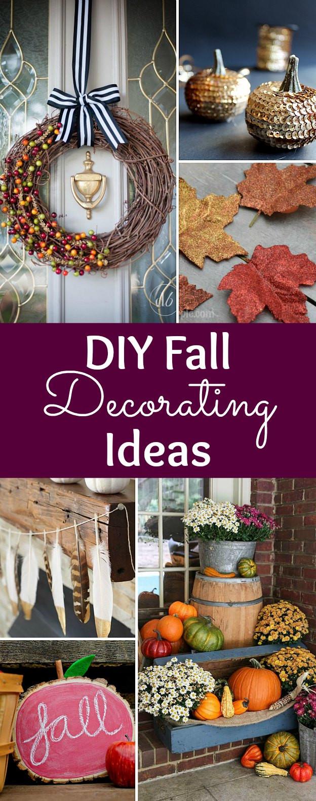 Fall Decorating Ideas DIY  DIY Fall Decorating Ideas