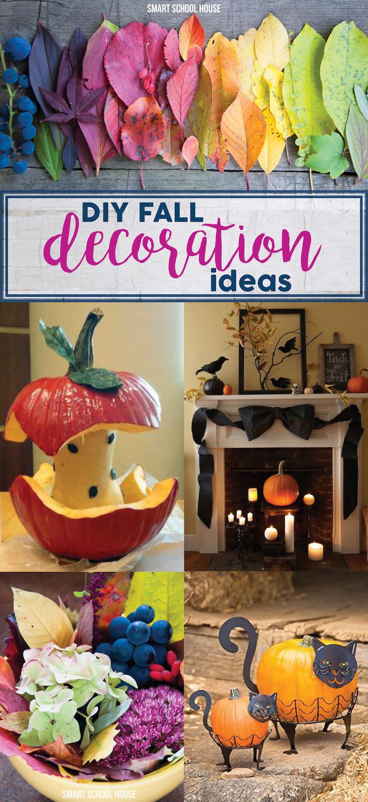 Fall Decorating Ideas DIY  DIY Fall Decoration Ideas Smart School House