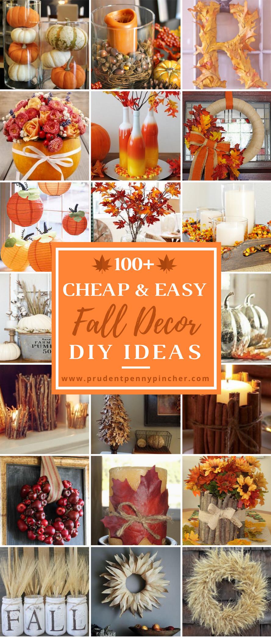 Fall Decorating Ideas DIY  100 Cheap and Easy Fall Decor DIY Ideas Prudent Penny