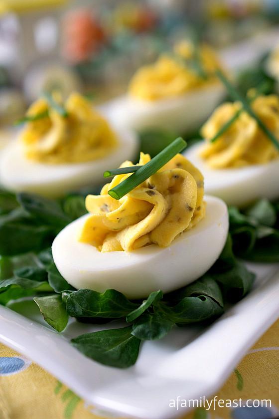 Fancy Deviled Eggs Recipe  Deviled Eggs A Family Feast