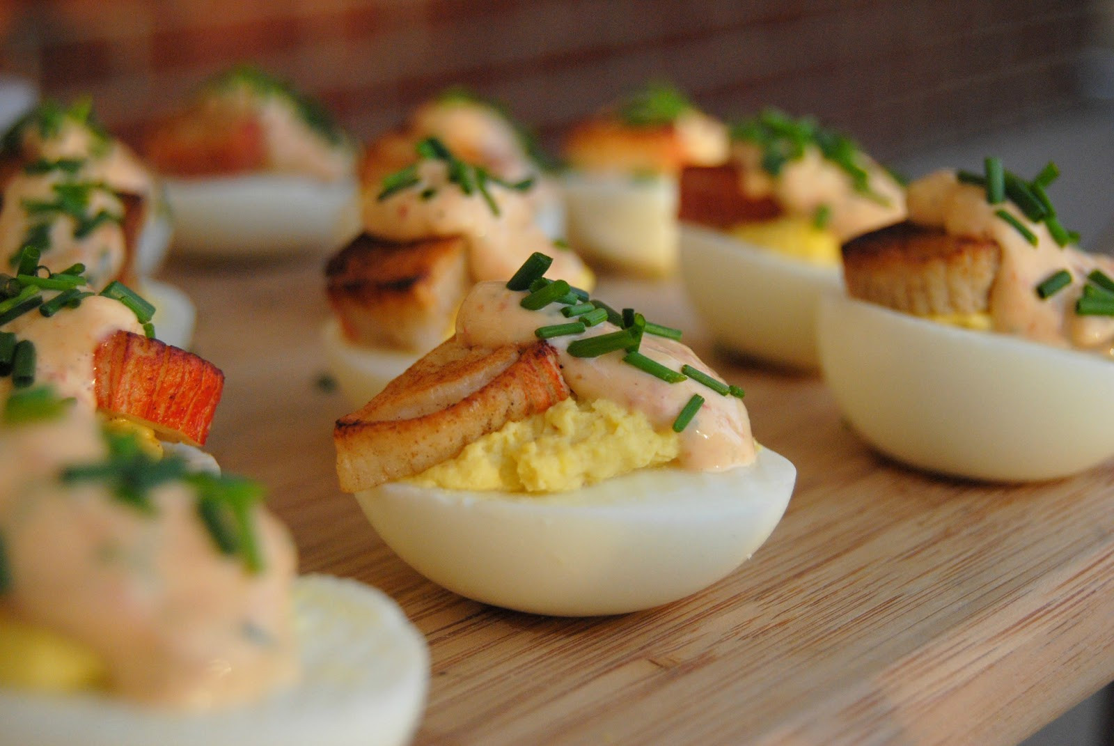 Fancy Deviled Eggs Recipe  SteakNPotatoesKindaGurl Crab and Chipotle Aioli Deviled Eggs