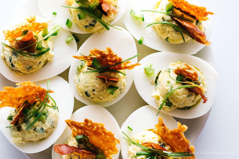 Fancy Deviled Eggs Recipe  Jalapeno Popper Deviled Eggs · i am a food blog i am a