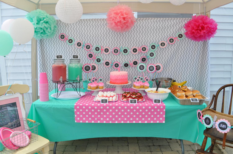 First Birthday Decor  1st Birthday Favor Stickers – Girls 1st Birthday