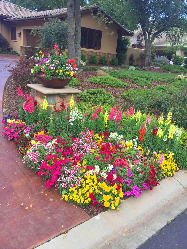 Flower Landscape Design  Fall & Winter Flower Beds Landscape Makeover