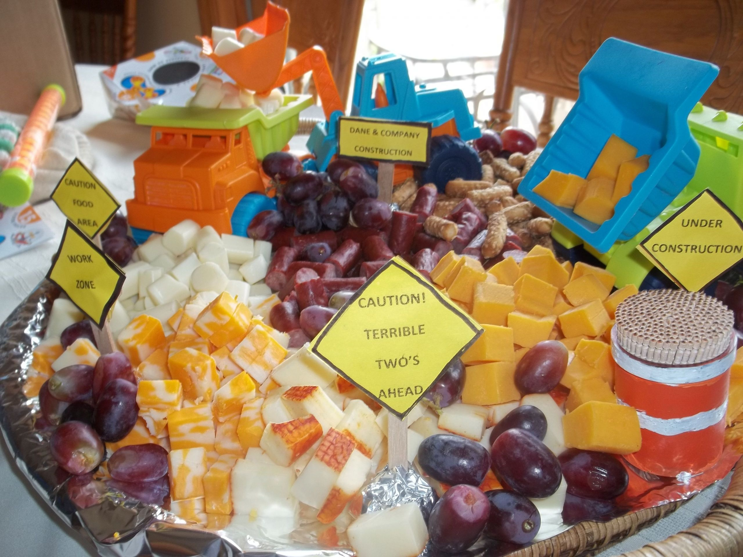 Food Ideas For A 2 Year Old Birthday Party  Toddler Birthday Party idea Dump Truck Party idea