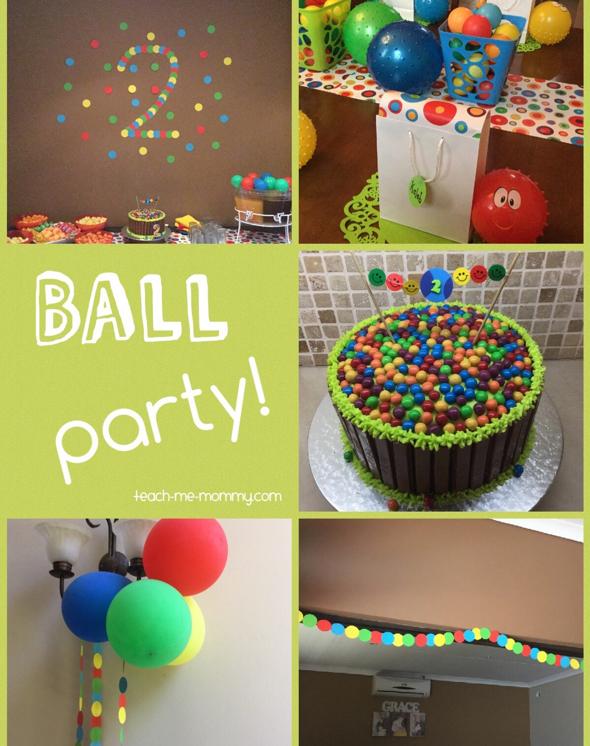 Food Ideas For A 2 Year Old Birthday Party  Ball Themed Party for a 2 Year Old Teach Me Mommy