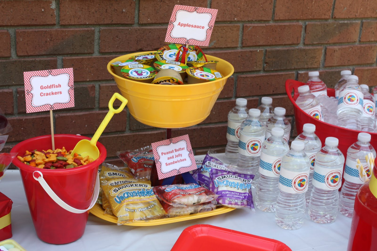 Food Ideas For A 2 Year Old Birthday Party  The Risher s Noah s 2nd Birthday Party the decor