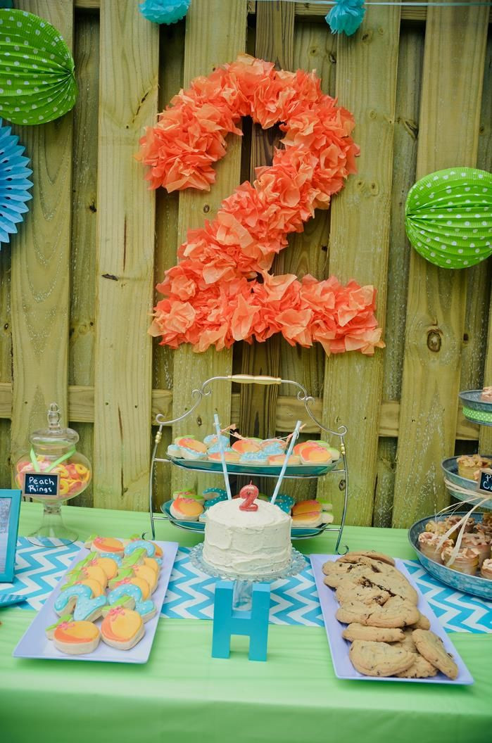 Food Ideas For A 2 Year Old Birthday Party  Peach Stand Party Planning Ideas Supplies Idea Cake