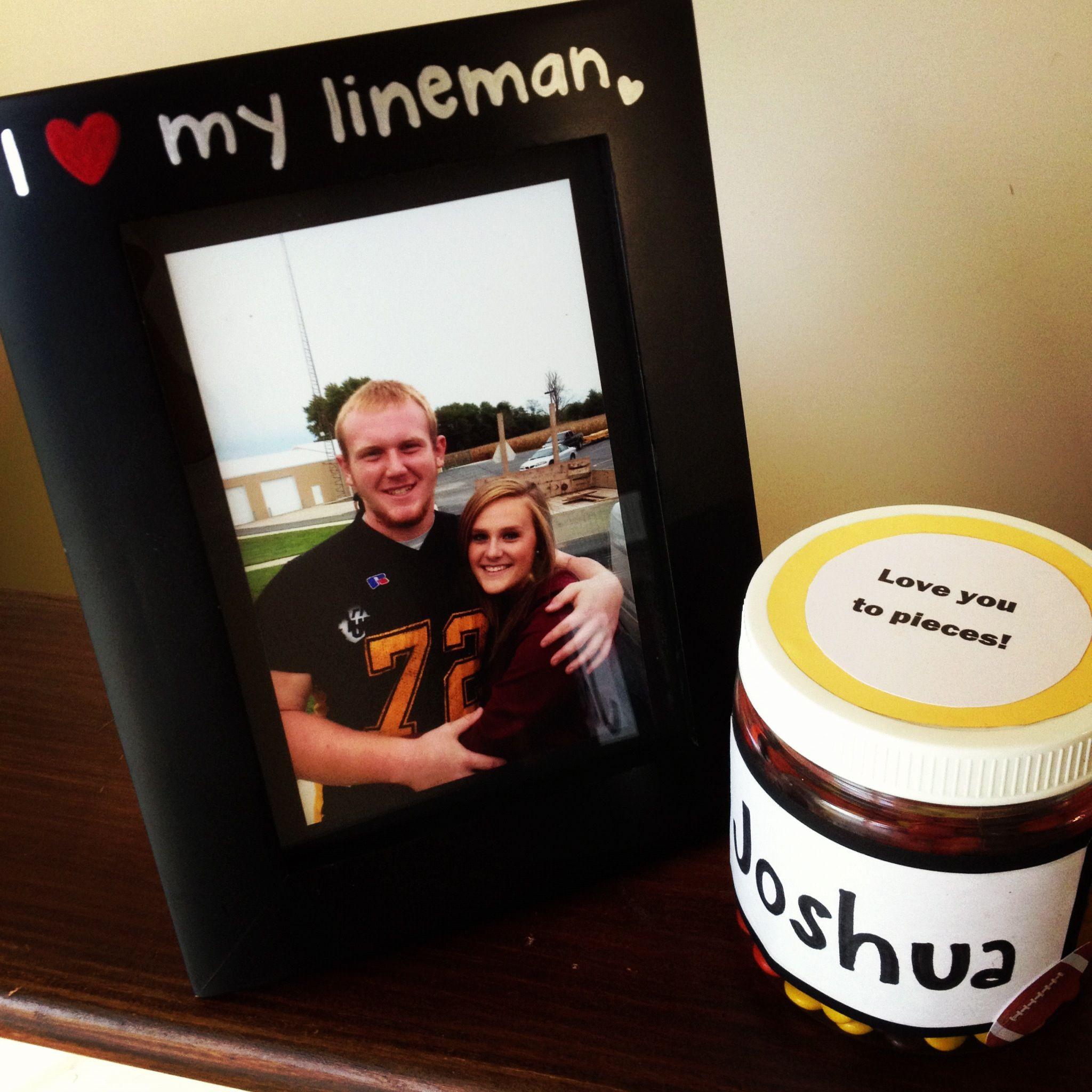 Football Gift Ideas For Boys  Gift for the boyfriend on his senior night for football