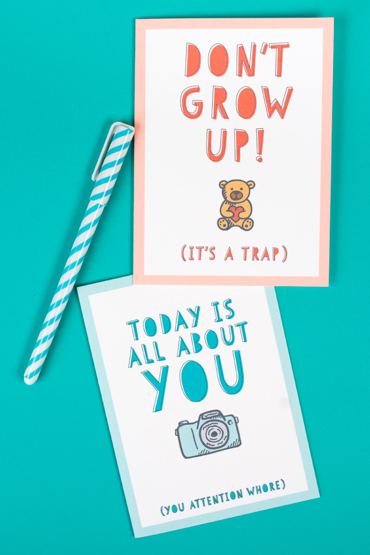 Free Printable Birthday Cards Funny  Free Funny Printable Birthday Cards for Adults Eight