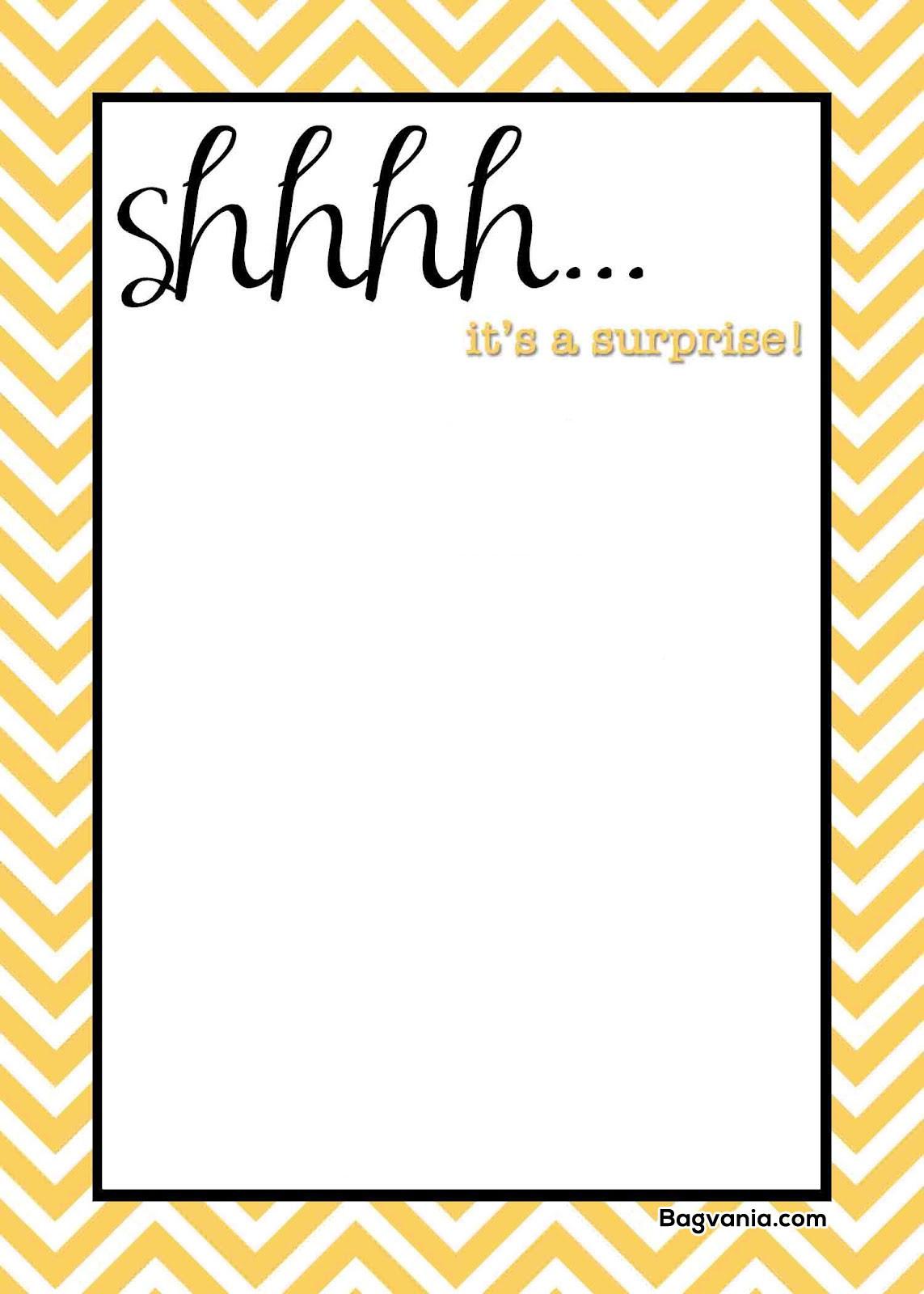 Free Templates For Birthday Invitations  Free Printable Surprise Birthday Invitations – FREE