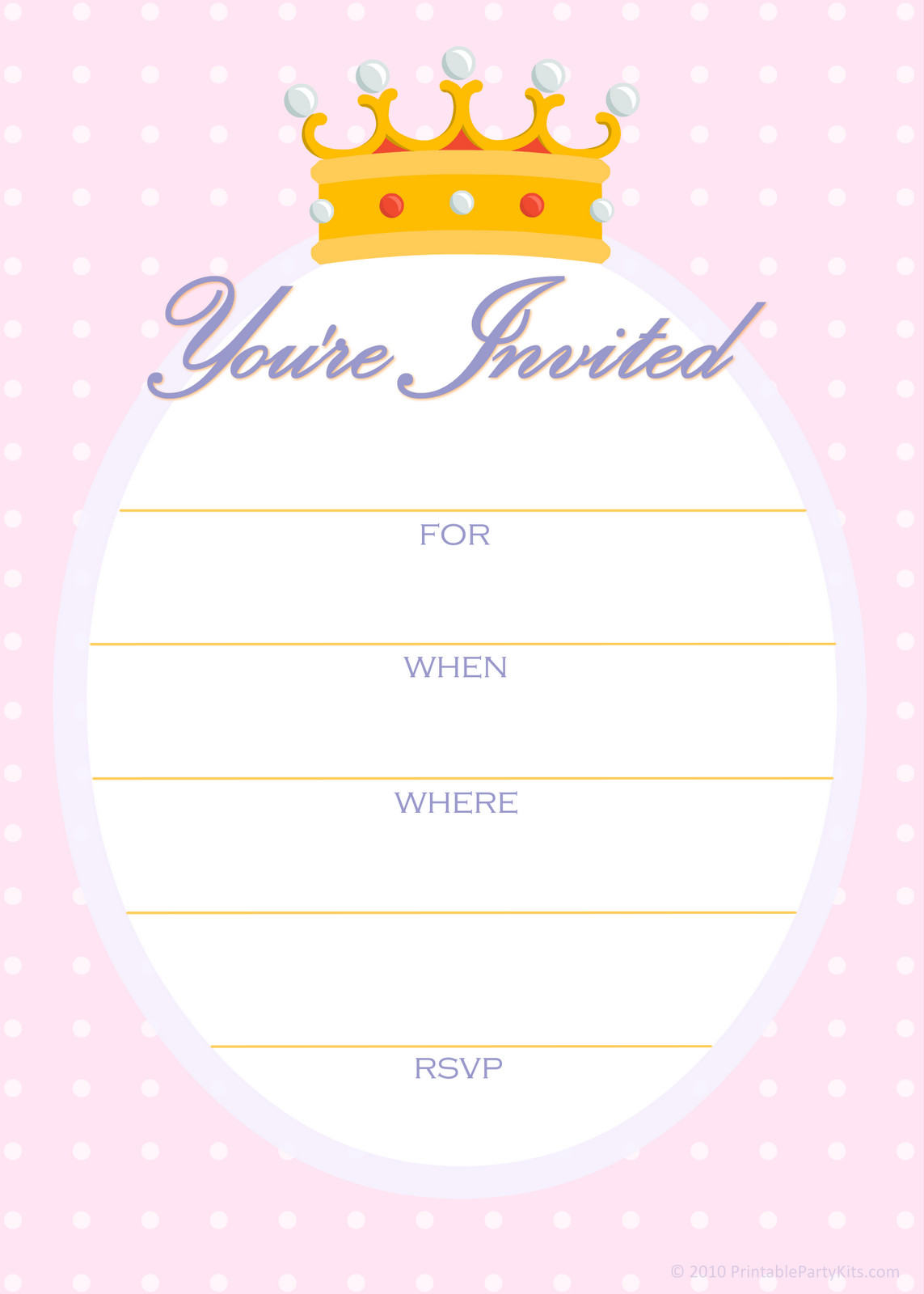 Free Templates For Birthday Invitations  Free Printable Party Invitations April 2010