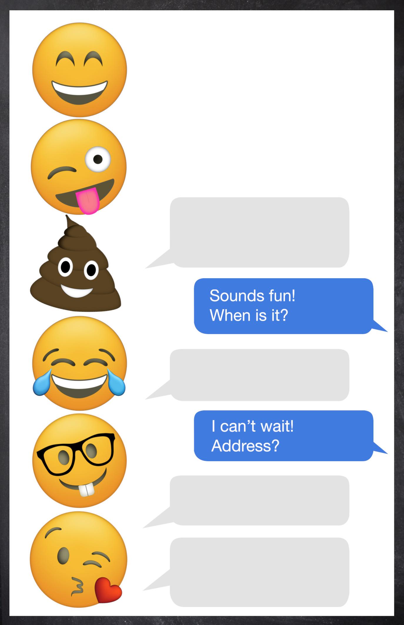 Free Templates For Birthday Invitations  Emoji Birthday Invitations Free Printable Template