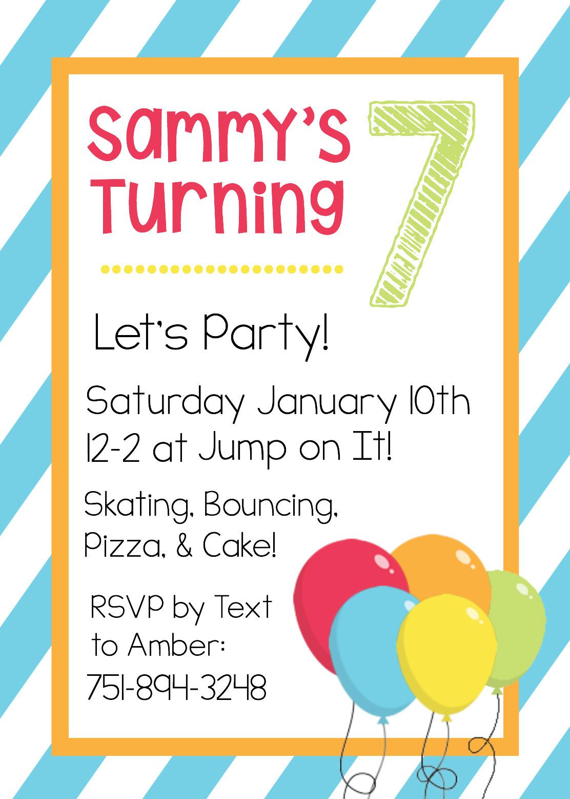 Free Templates For Birthday Invitations  Free Printable Birthday Invitation Templates