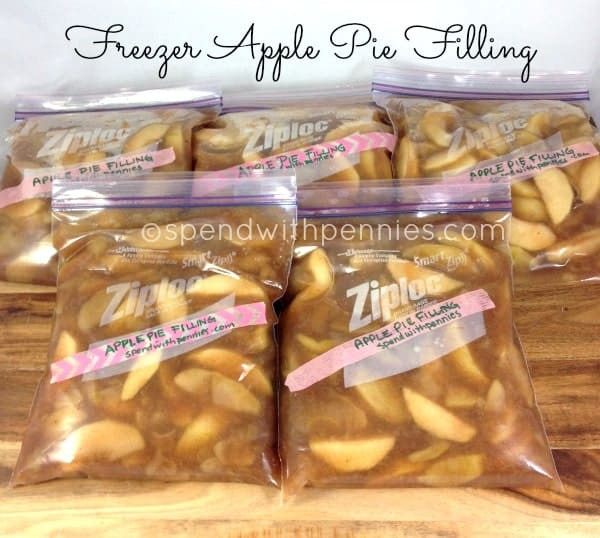 Freezer Apple Pie Filling  Freezer Apple Pie Filling 4 5 Pies Spend With Pennies