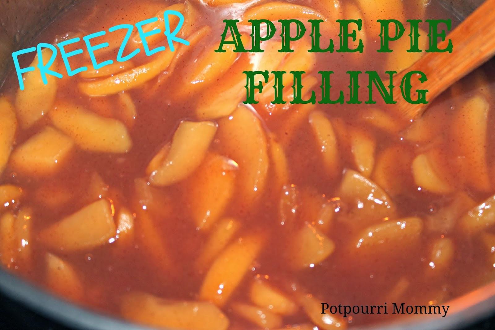 Freezer Apple Pie Filling  Potpourri Mommy Freezer Apple Pie Filling