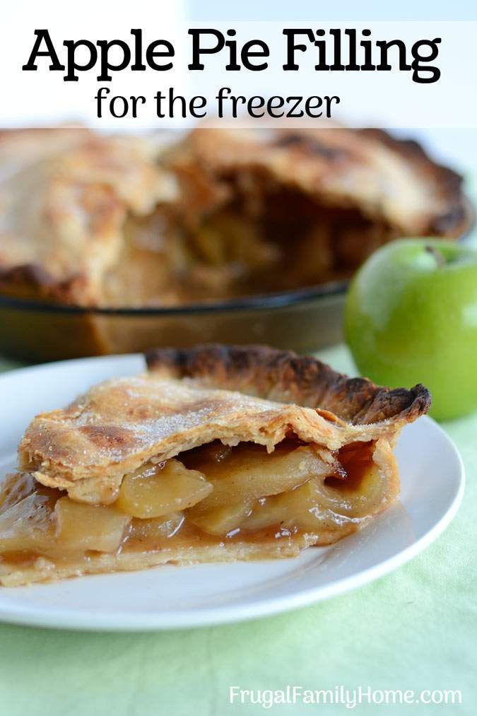 Freezer Apple Pie Filling  How to Make Easy Apple Pie Filling for the Freezer