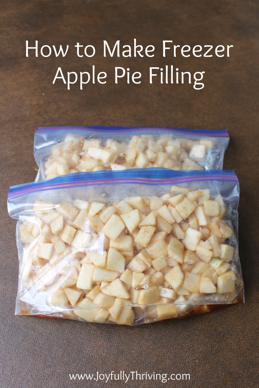 Freezer Apple Pie Filling  How to Make Freezer Apple Pie Filling & Apple Pie Kits