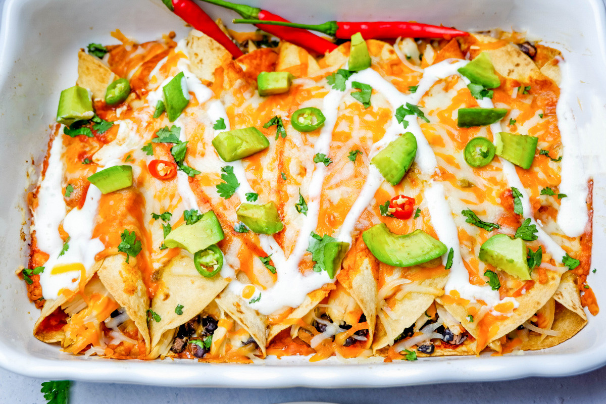 Freezer Chicken Enchiladas  Freezer Friendly Cheesy Chicken Enchiladas Recipe